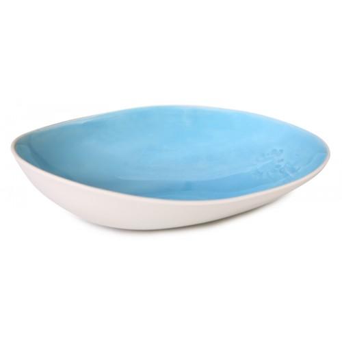 Mavi Porselen Oval Kase - Assos