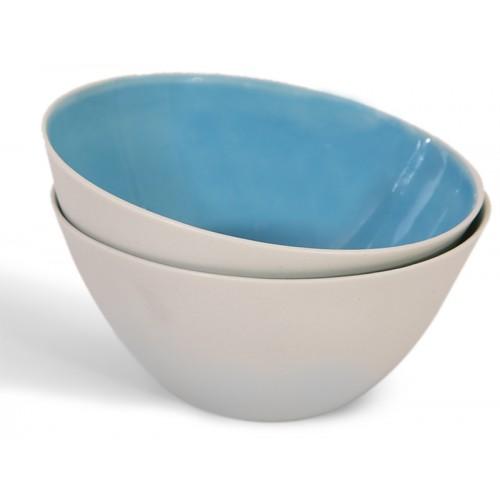 Mavi Porselen Kase - Nuts