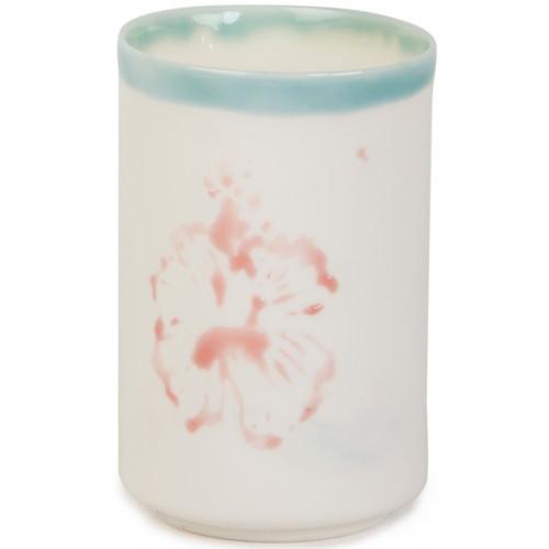 Porselen Bardak - Çiçek Desenli