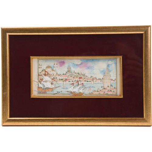 Galata ve Sultanahmet Karşı Karşıya Minyatür