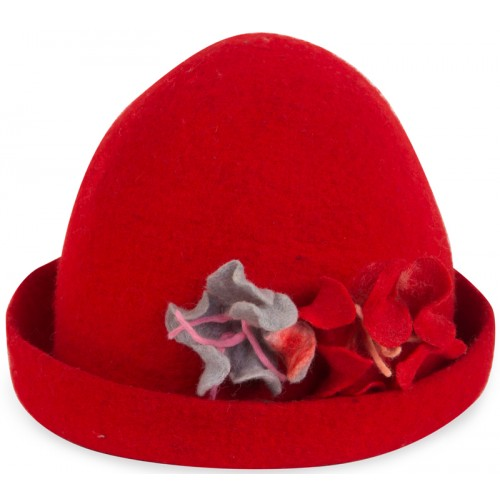 Keçe Şapka - Kırmızı