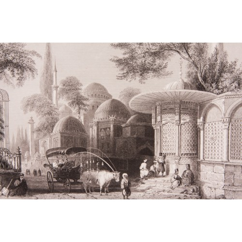 İstanbul Şehzadebaşı Gravür