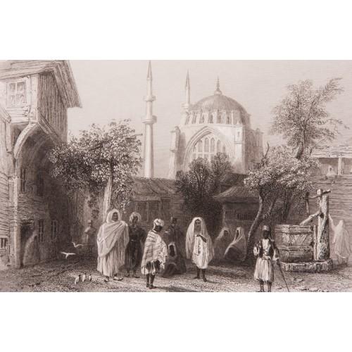 İstanbul Nuruosmaniye'de Köle Pazarı Gravür