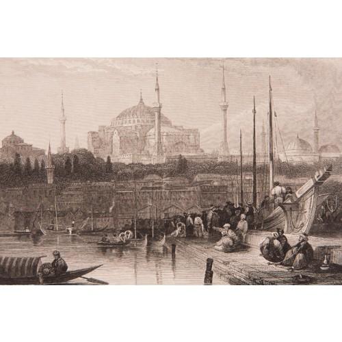 Karaköy'den Ayasofya ve Eminönü Gravür