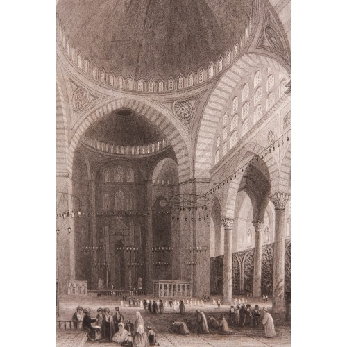 Süleymaniye Cami içi Gravür