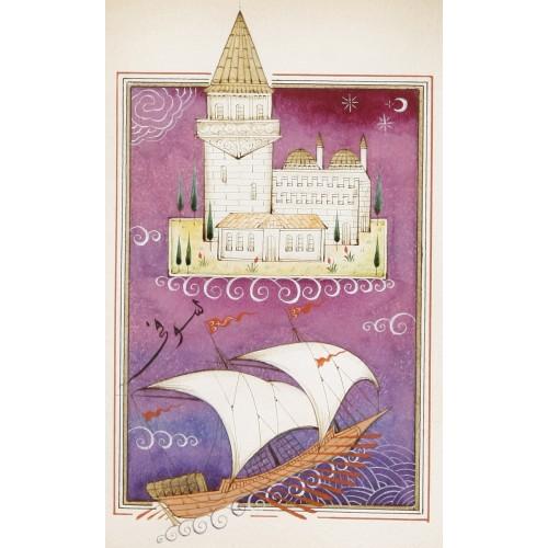 Kız Kulesi ve Kalyon Minyatür