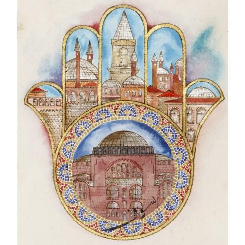 Fatma'nın Eli (Hamsa) ve Ayasofya Minyatür