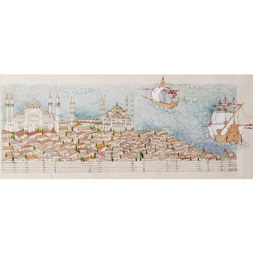 Sultanahmet'e Genel Bakış Minyatür