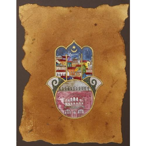 Fatma'nın Elinde (Hamsa) Bir Ayasofya Gecesi Minyatür