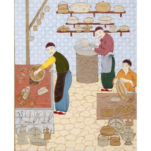 Osmanlı'da Ekmek Fırını Minyatür