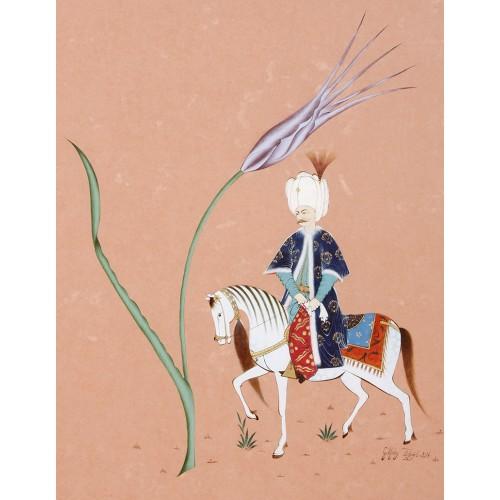Sultanın At ile Gezintisi Minyatür