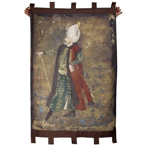 Muhteşem Süleyman ve İstanbul Minyatür Dokuma Duvar Panosu