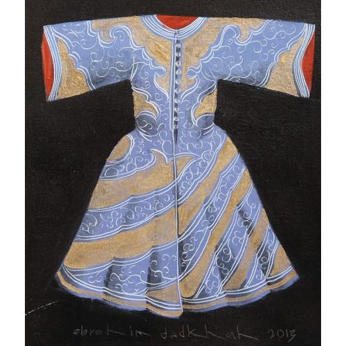 Akrilik Kaftan - Mavi