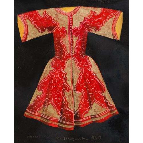 Akrilik Kaftan - Kırmızı
