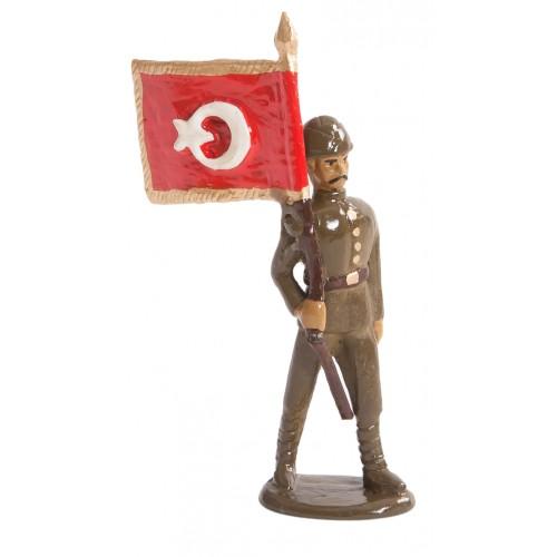 Süvari Bayraktarı Kurşun Asker Figürü
