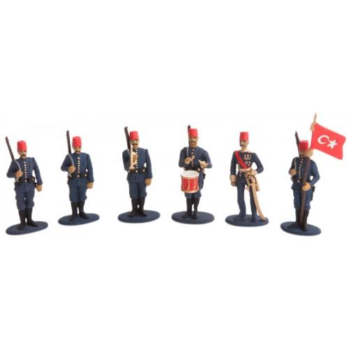 Balkan Savaşları Osmanlı Ordusu Takımı Kurşun Asker Seti