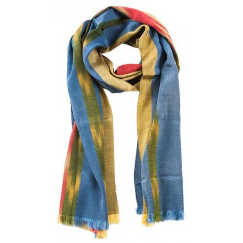 Kutnu Fular - Mavi Sarı