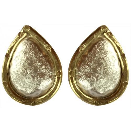 Gümüş Küpe - Sabit Damla