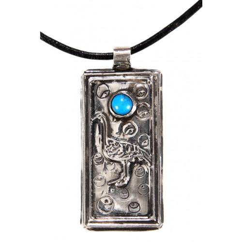 Leylek Besmele Gümüş Kolye