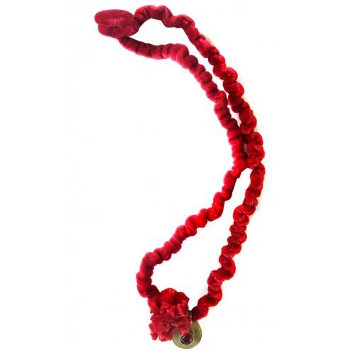 Kadife Kolye - Kırmızı