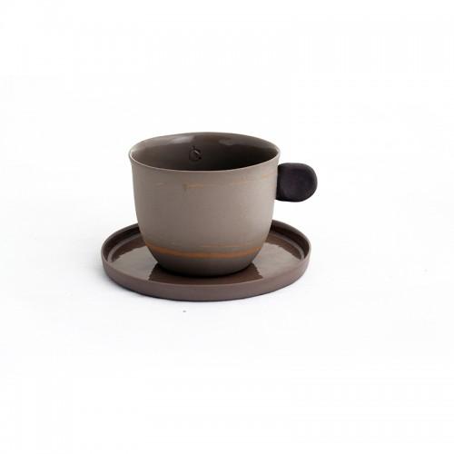 İstanbul'un 400.000 Yılı - Porselen Kahve Fincanı Seti - Kahverengi