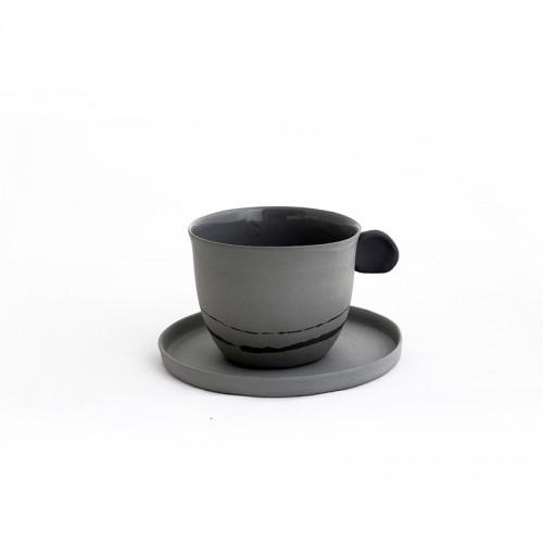İstanbul'un 400.000 Yılı - Porselen Kahve Fincanı Seti - Füme