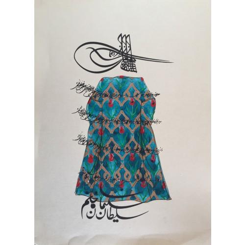 Kaftanlı Kanuni Sultan Süleyman Tuğra Hat