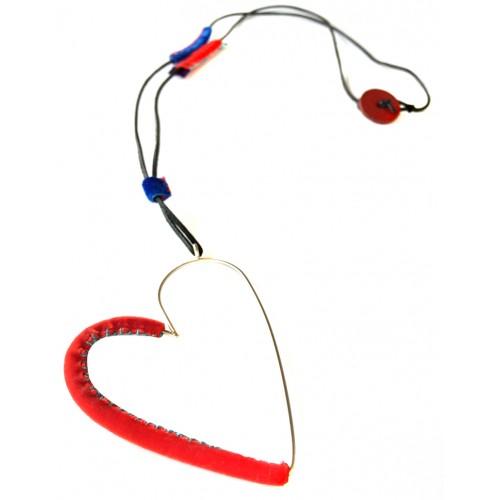 Kalp Kolye - Kırmızı