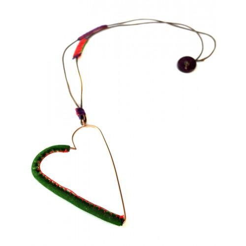 Kalp Kolye Yeşil