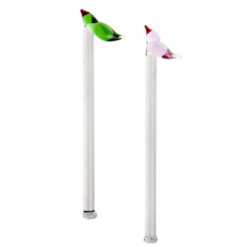 Kuş Formlu Cam Kaşık