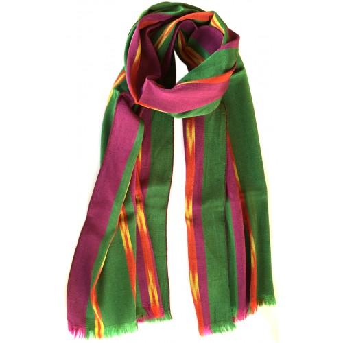 Kutnu Fular - Mor Yeşil
