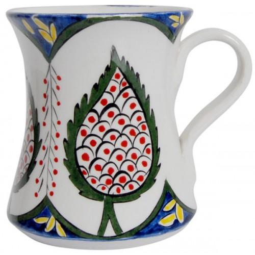 Servi Desenli Seramik Rumi Kupa