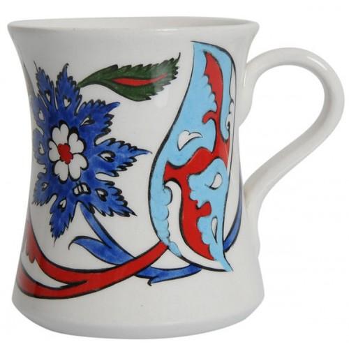 Rumi Desenli Seramik Kupa