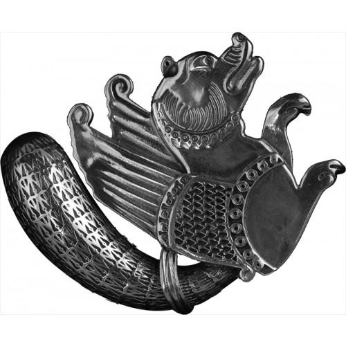 Gümüş Simurg Broş