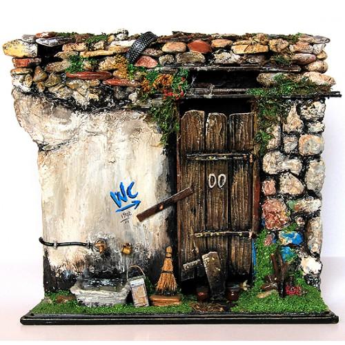 Minyatür Tarihi Anadolu Köyü Tuvalet Kapısı