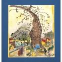 Beyazıt Küllük Paspartulu Yazma - Lacivert