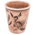 Selçuklu Eskitme Bardak - Kuş Motifli