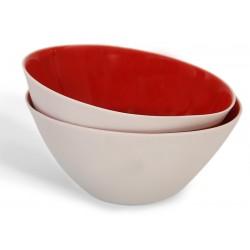Kırmızı Porselen Kase - Nuts