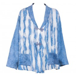 Keçe Ceket - Mavi