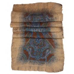 Keçe Şal - Krem Mavi