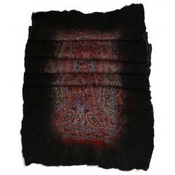 Keçe Şal - Siyah