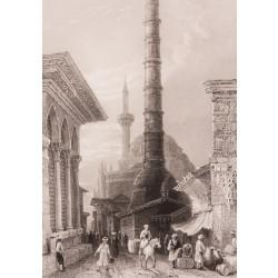 İstanbul Çemberlitaş Sütunu Gravür