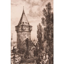 Galata Kulesi Gravür