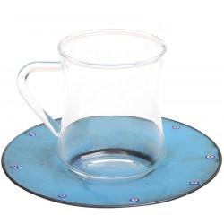 Mavi Bakır Emay Kahve/Çay Fincanı
