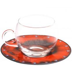 Turuncu Bakır Emay Kahve/Çay Fincanı