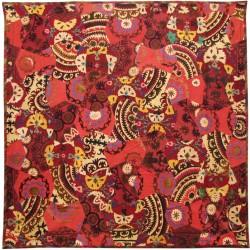 İpek Koton Vintage Kırmızı Yatak Örtüsü