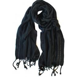 Ham İpek Erkek Fuları - Siyah