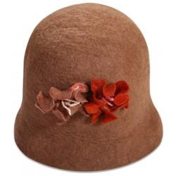 Keçe Şapka - Kahverengi