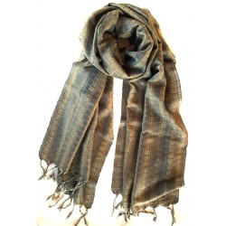 Silk Scarf - Dark Grey