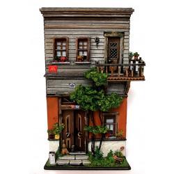 Minyatür Tarihi Osmanlı Evi - İstanbul Nene Hatun Sokağı